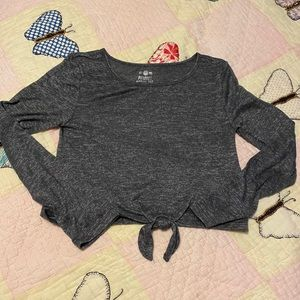 Grey marled long sleeve tee